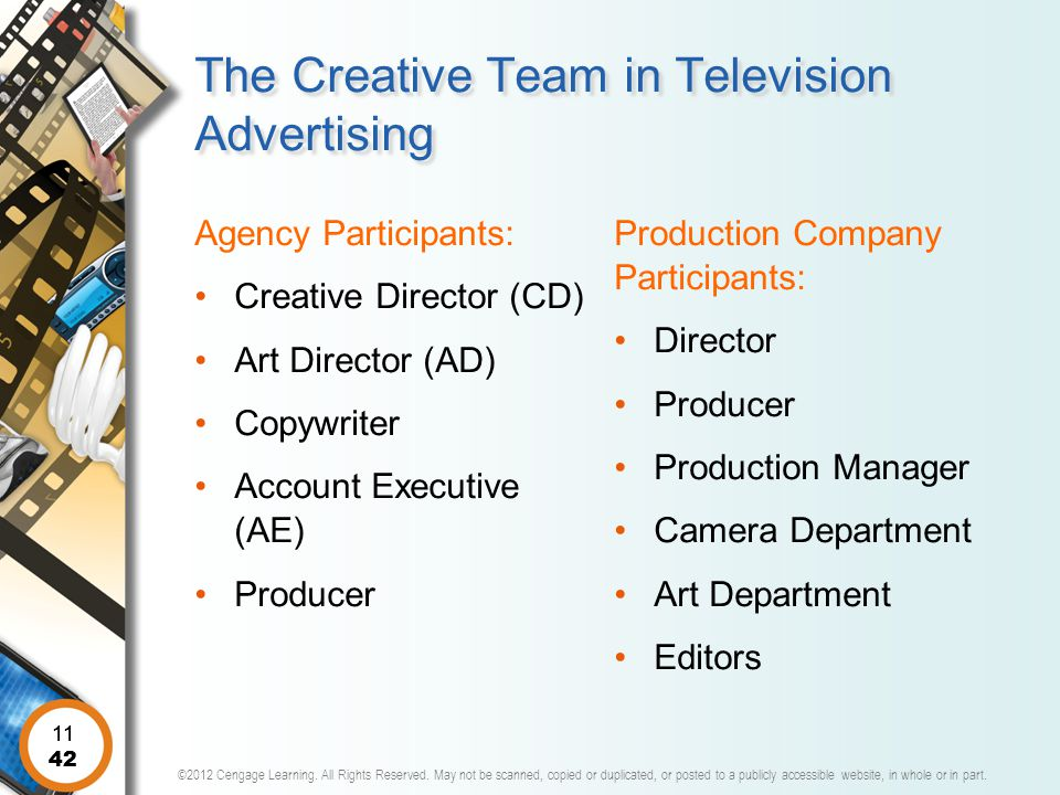 The Creative Team in Television Advertising