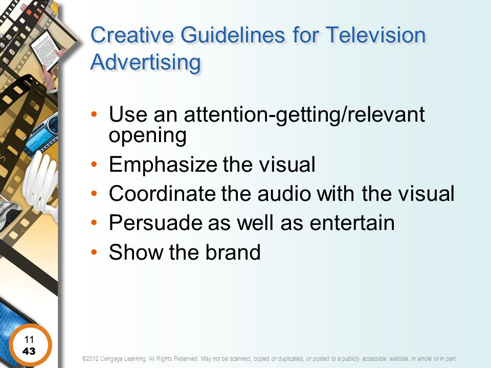 Creative Guidelines for Television Advertising