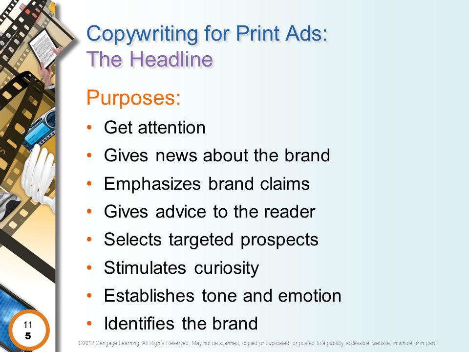 Copywriting for Print Ads: The Headline