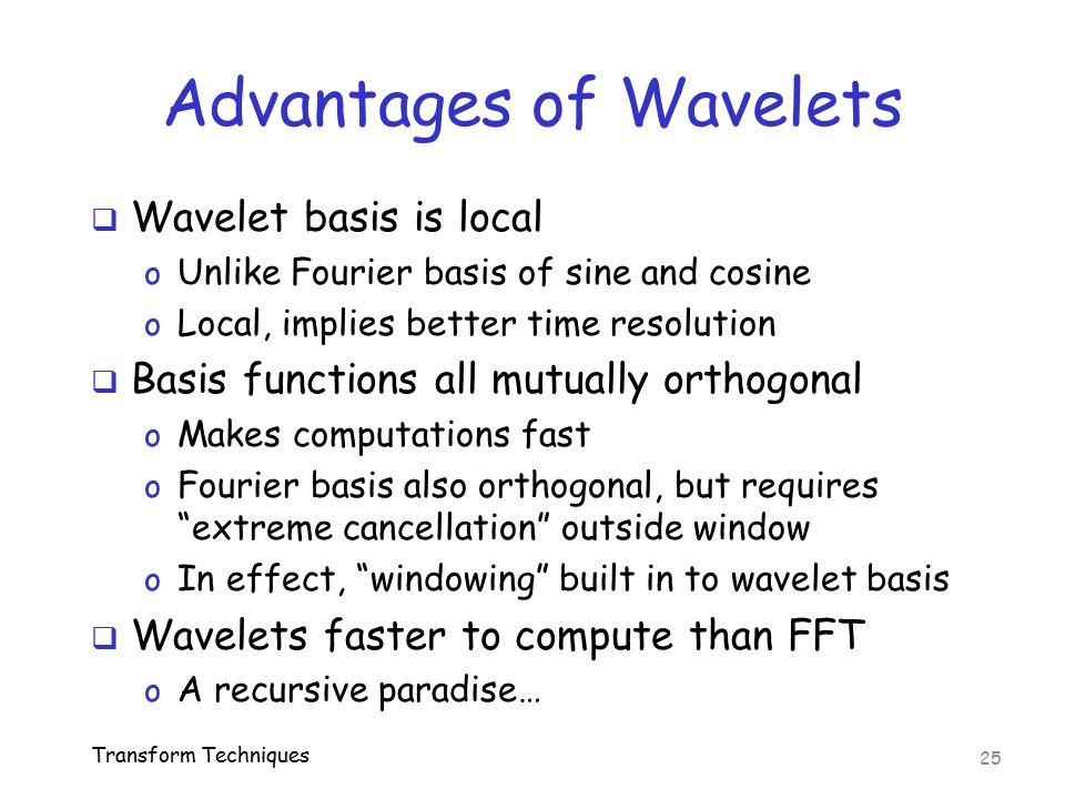 Advantages of Wavelets