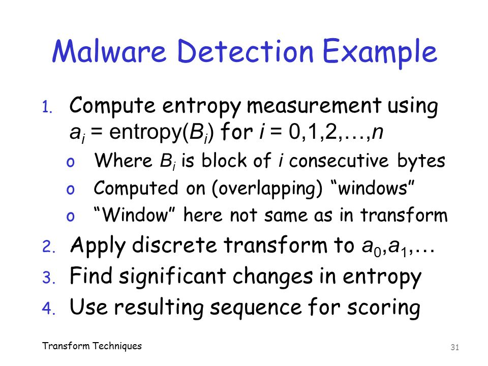 Malware Detection Example