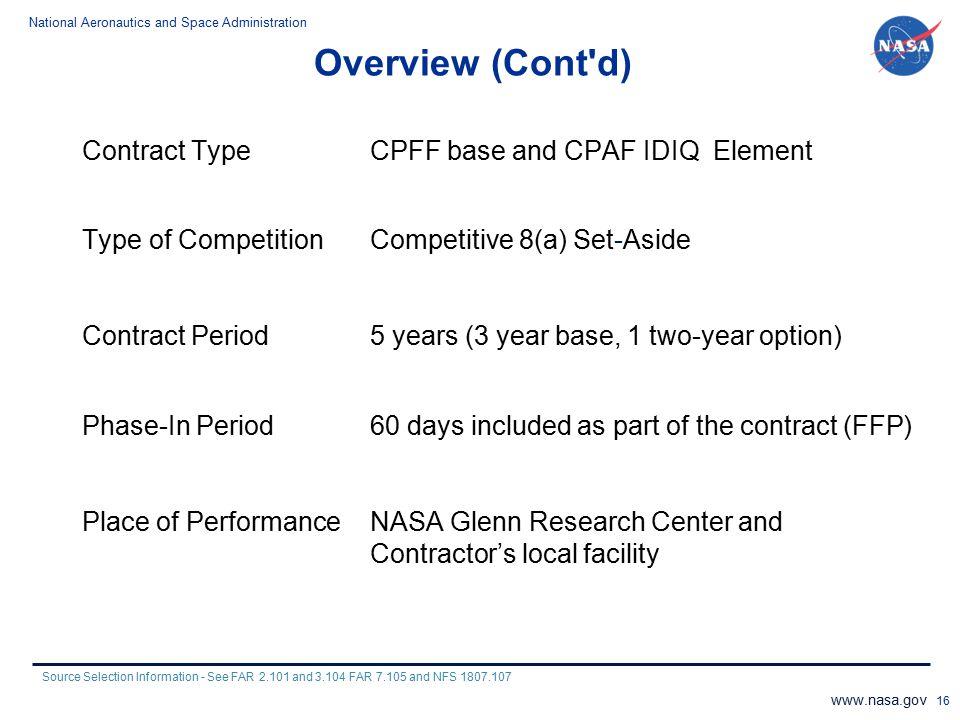 Overview (Cont d)
