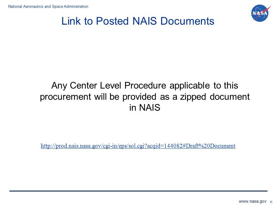 Link to Posted NAIS Documents