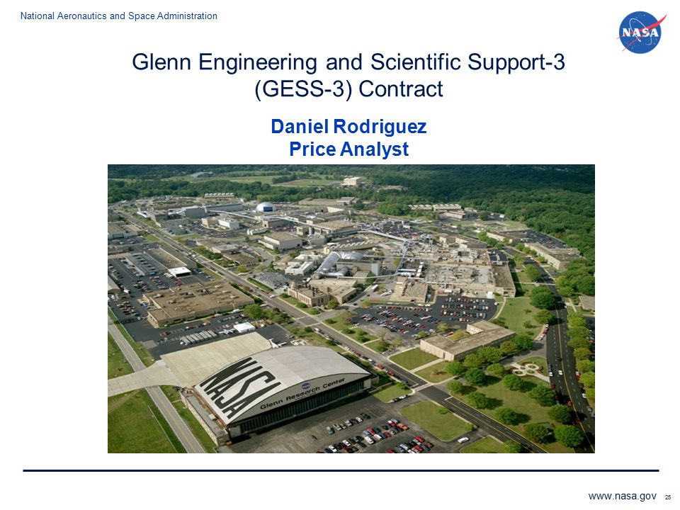 Glenn Engineering and Scientific Support-3 (GESS-3) Contract Daniel Rodriguez Price Analyst