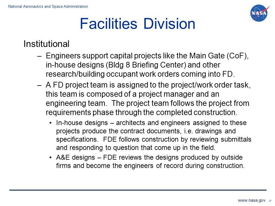 Facilities Division Institutional