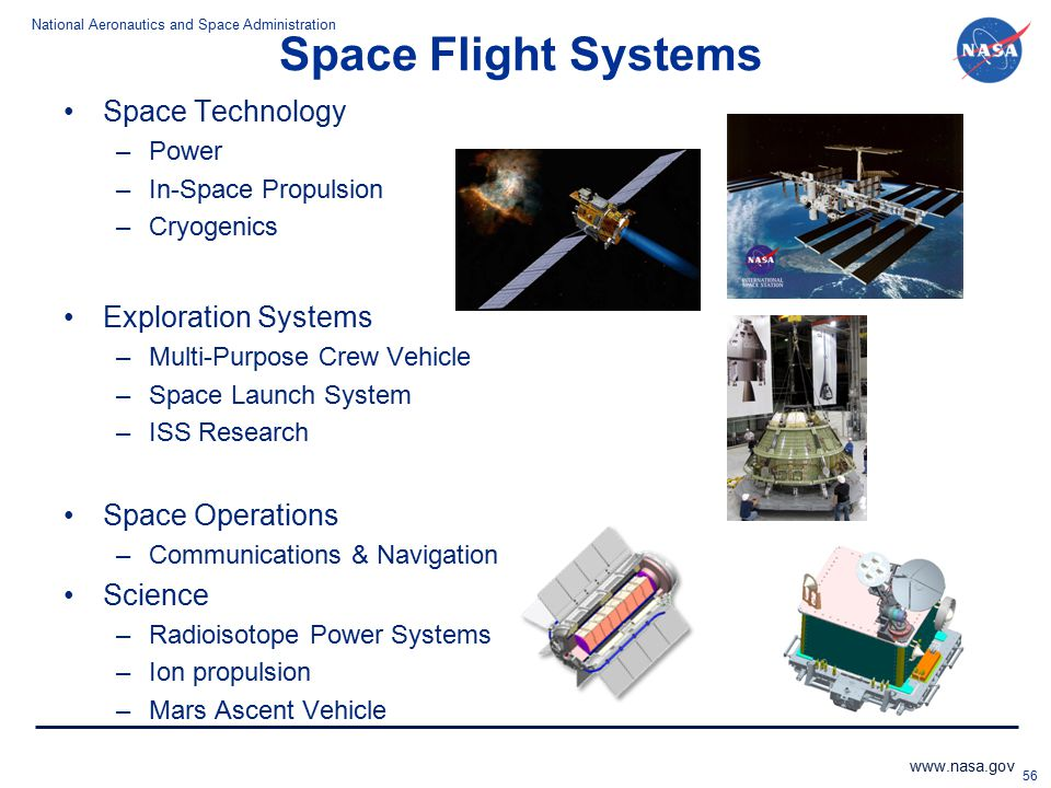 Space Flight Systems Space Technology Exploration Systems