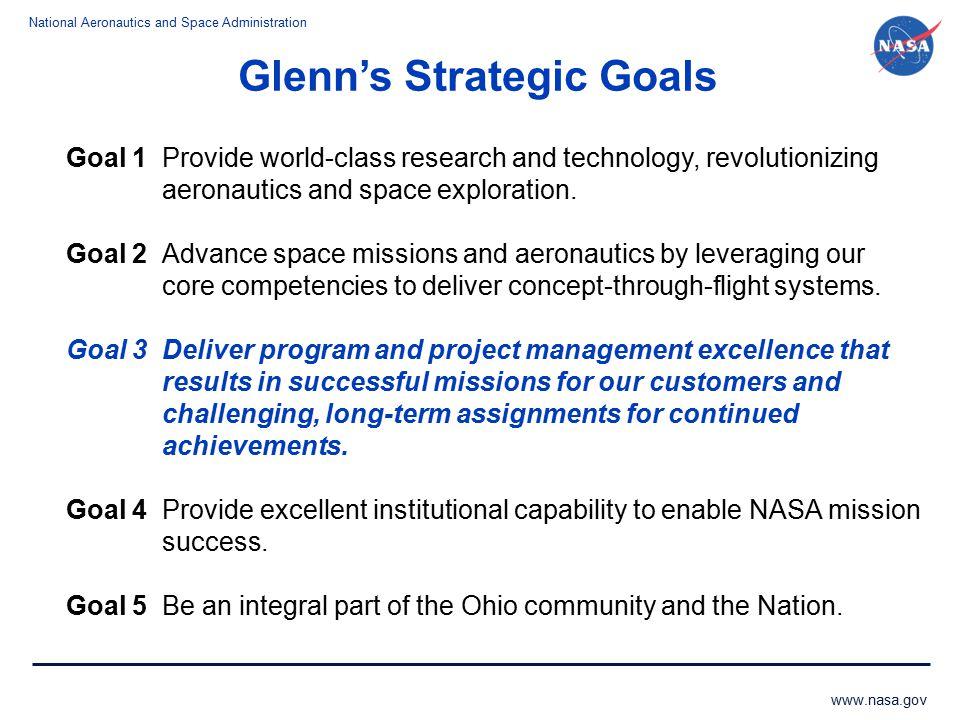Glenn's Strategic Goals