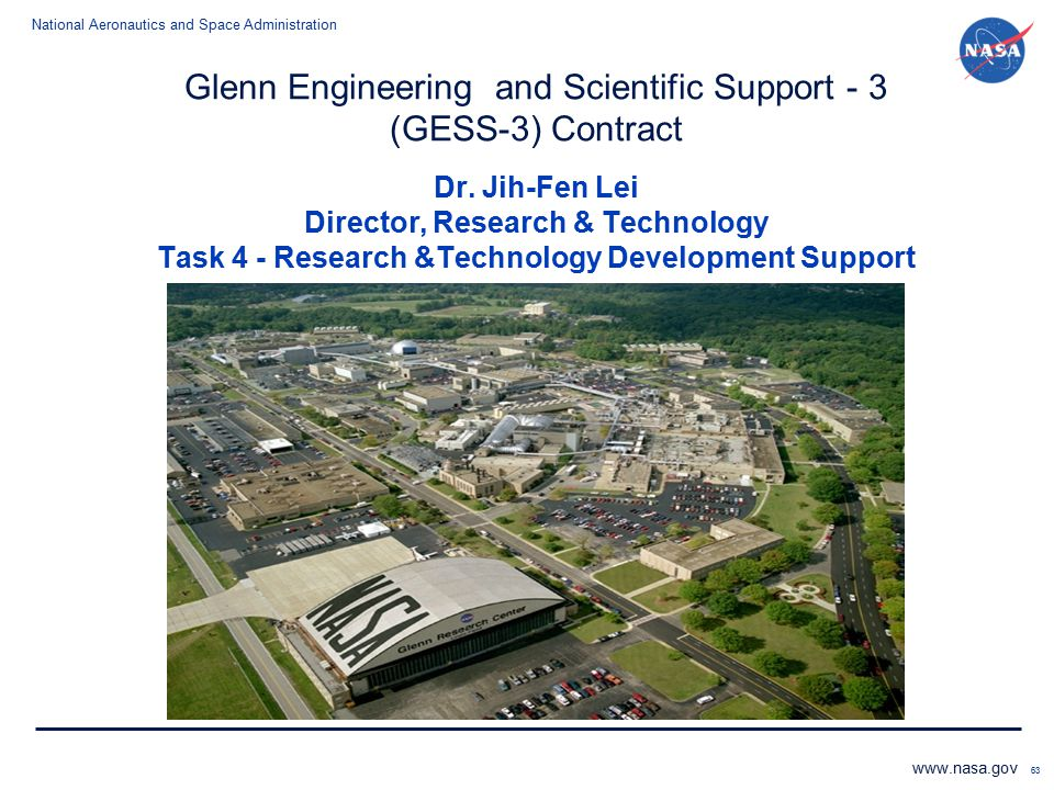 Glenn Engineering and Scientific Support - 3 (GESS-3) Contract Dr