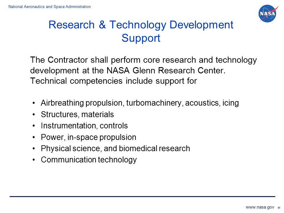 Research & Technology Development Support