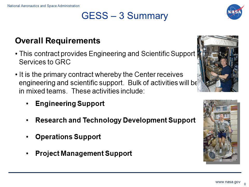 GESS – 3 Summary Overall Requirements