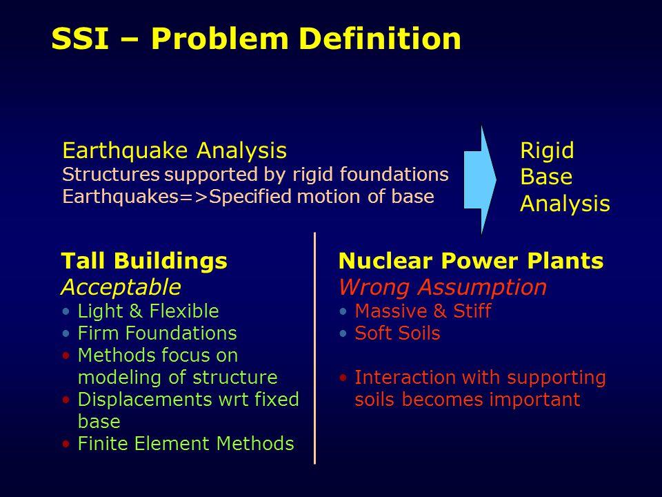 SSI – Problem Definition