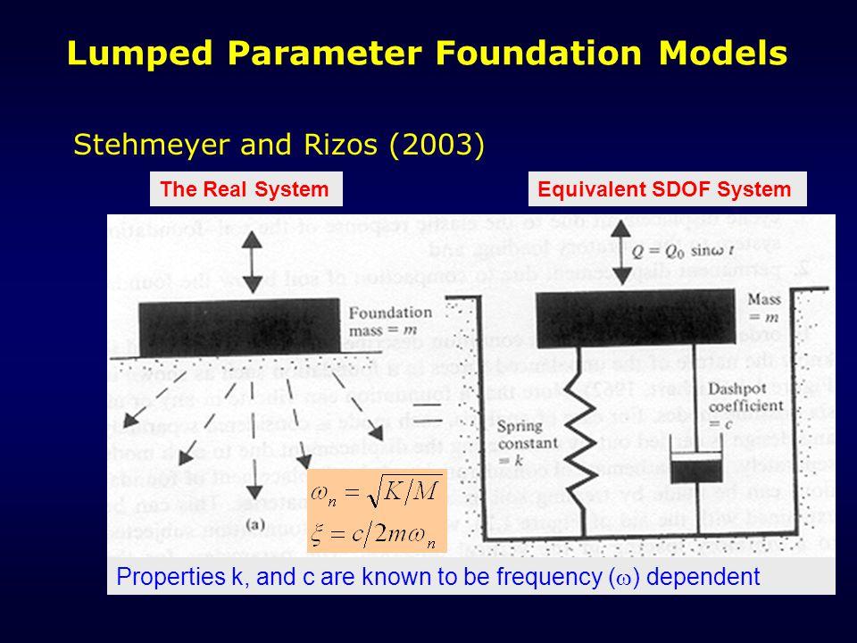 Lumped Parameter Foundation Models