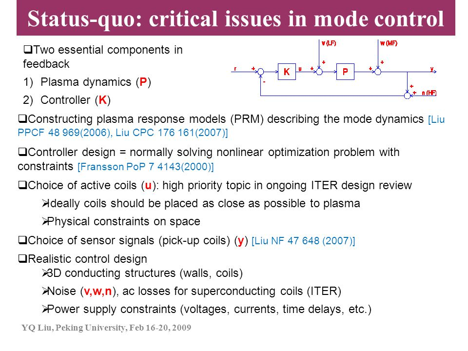 Status-quo: critical issues in mode control