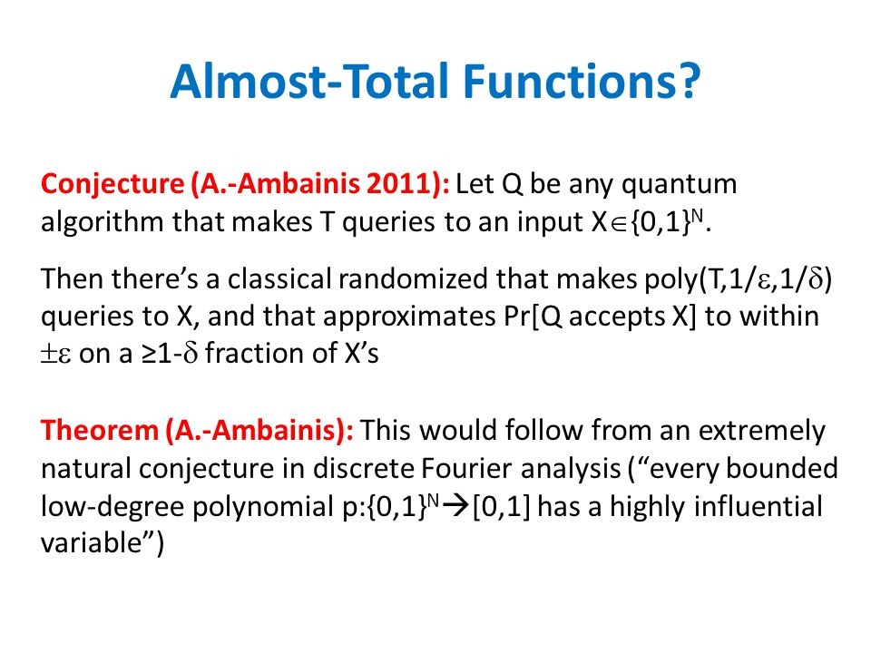 Almost-Total Functions