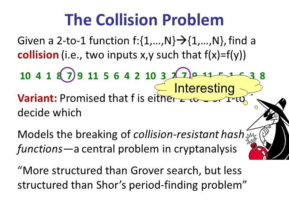 The Collision Problem Interesting