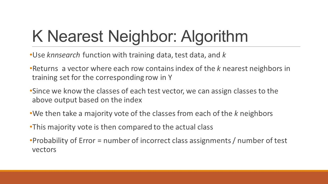 K Nearest Neighbor: Algorithm
