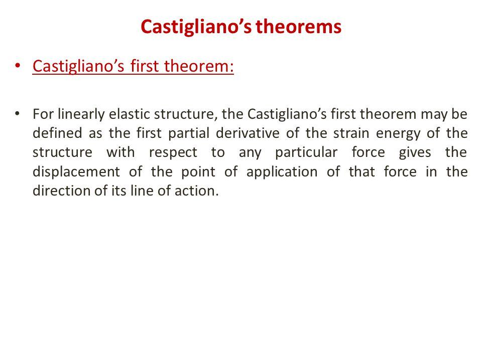 Castigliano's theorems