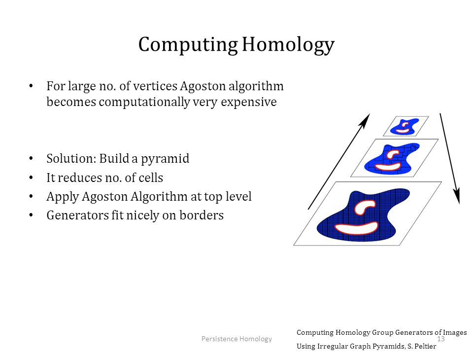 Computing Homology For large no. of vertices Agoston algorithm becomes computationally very expensive.
