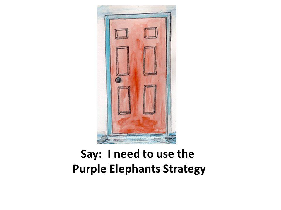 Purple Elephants Strategy