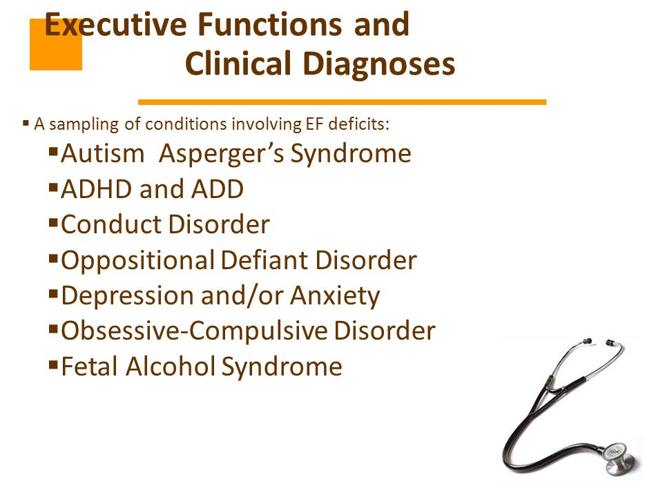 Executive Functions and Clinical Diagnoses