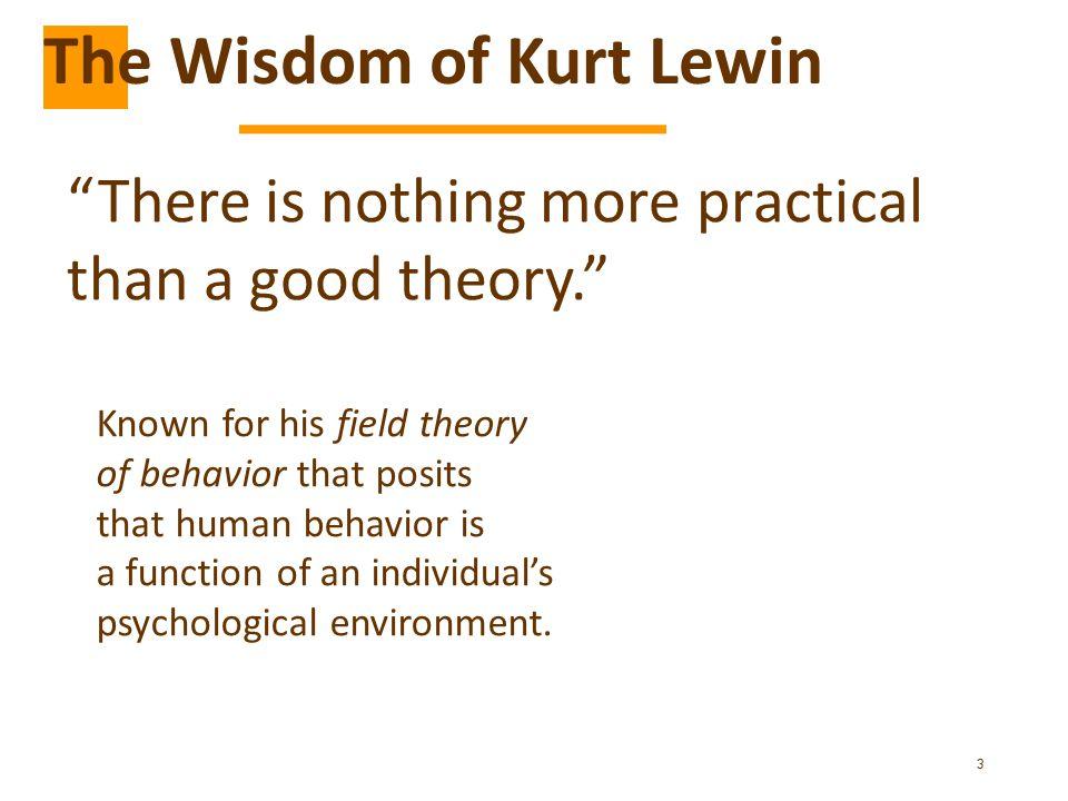 The Wisdom of Kurt Lewin