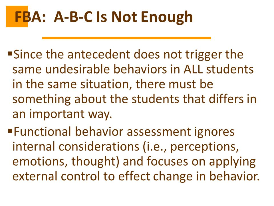 FBA: A-B-C Is Not Enough