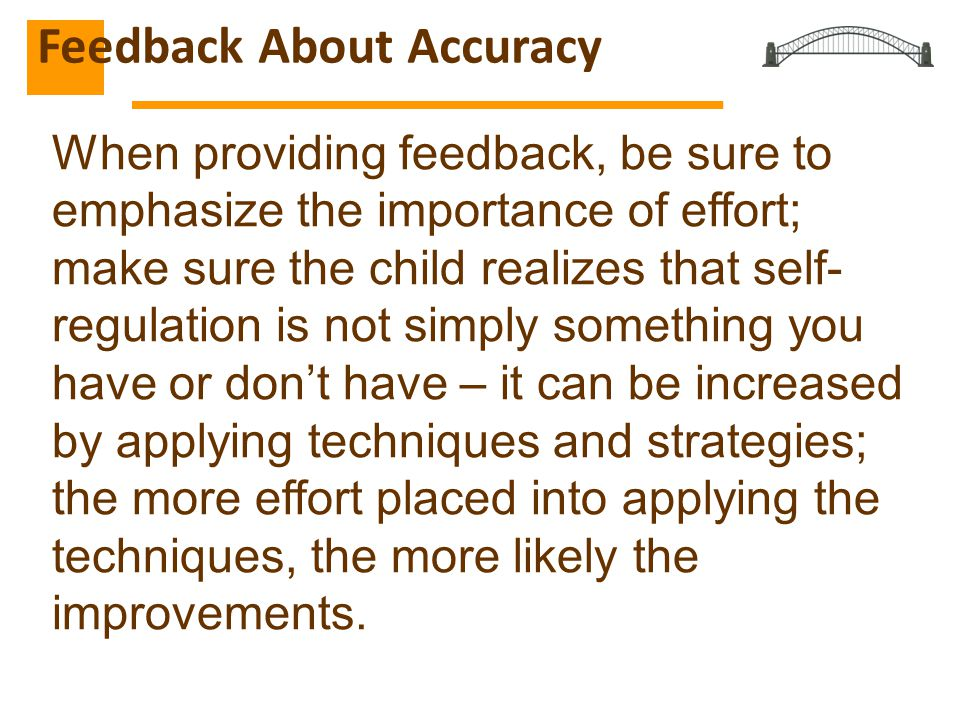 Feedback About Accuracy