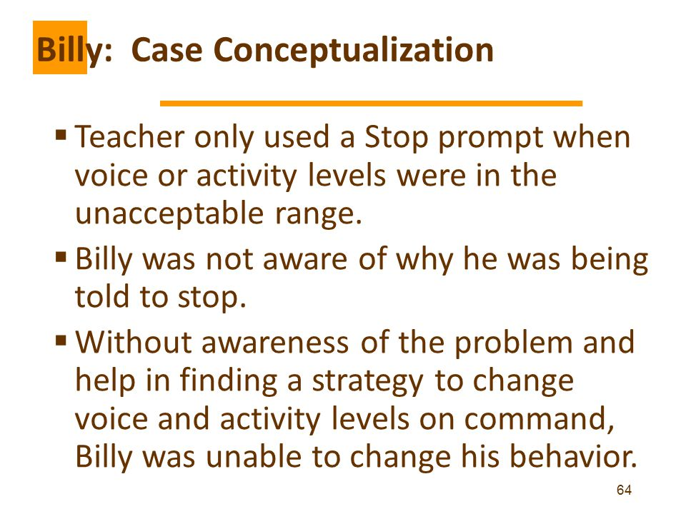 Billy: Case Conceptualization