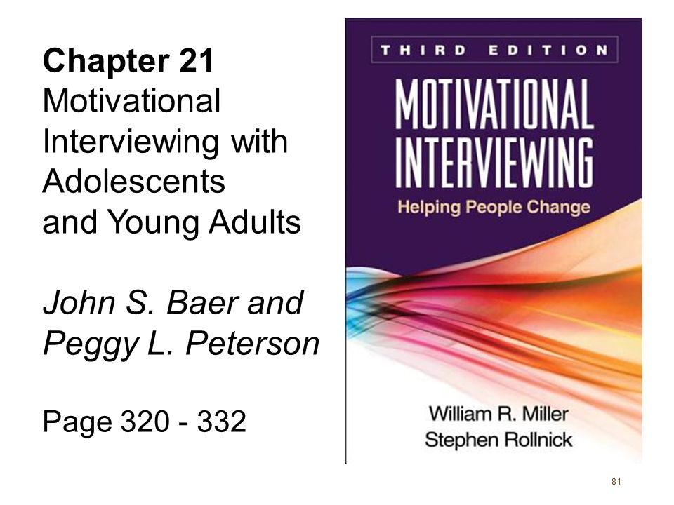 Motivational Interviewing with Adolescents