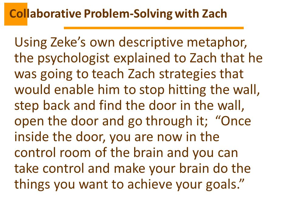 Collaborative Problem-Solving with Zach