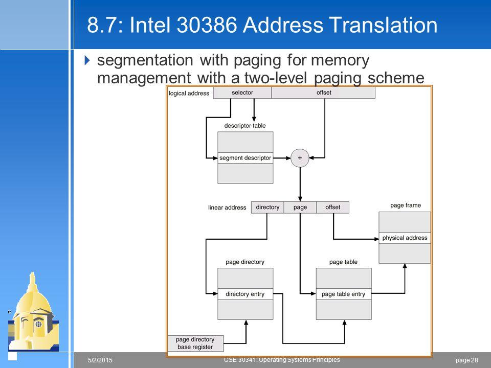 8.7: Intel 30386 Address Translation