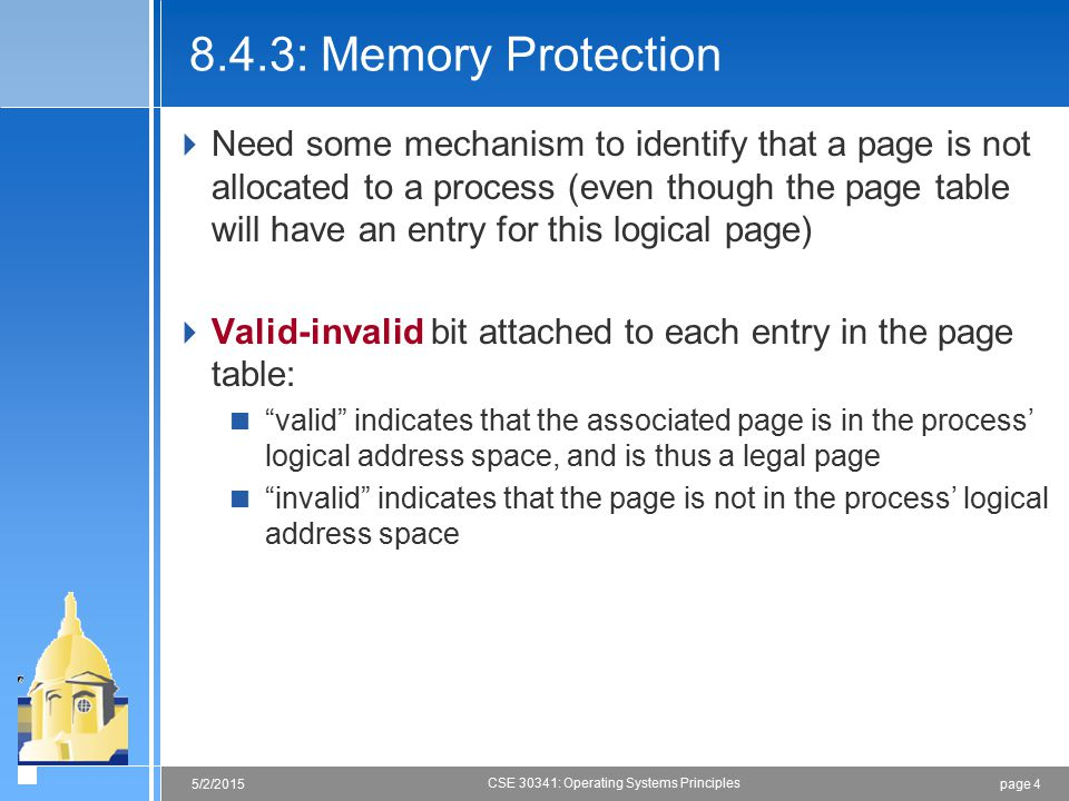 8.4.3: Memory Protection