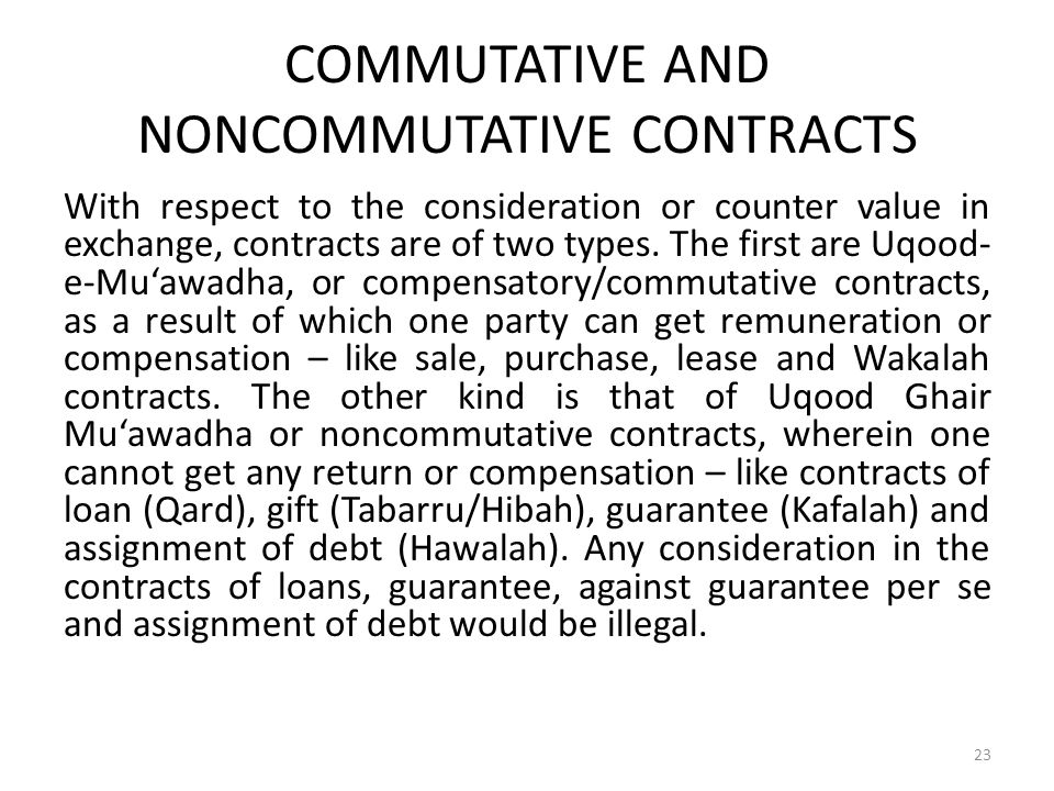 COMMUTATIVE AND NONCOMMUTATIVE CONTRACTS
