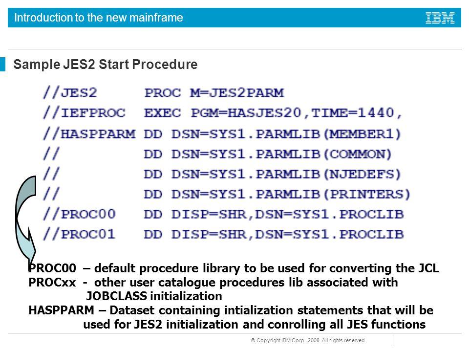 Sample JES2 Start Procedure