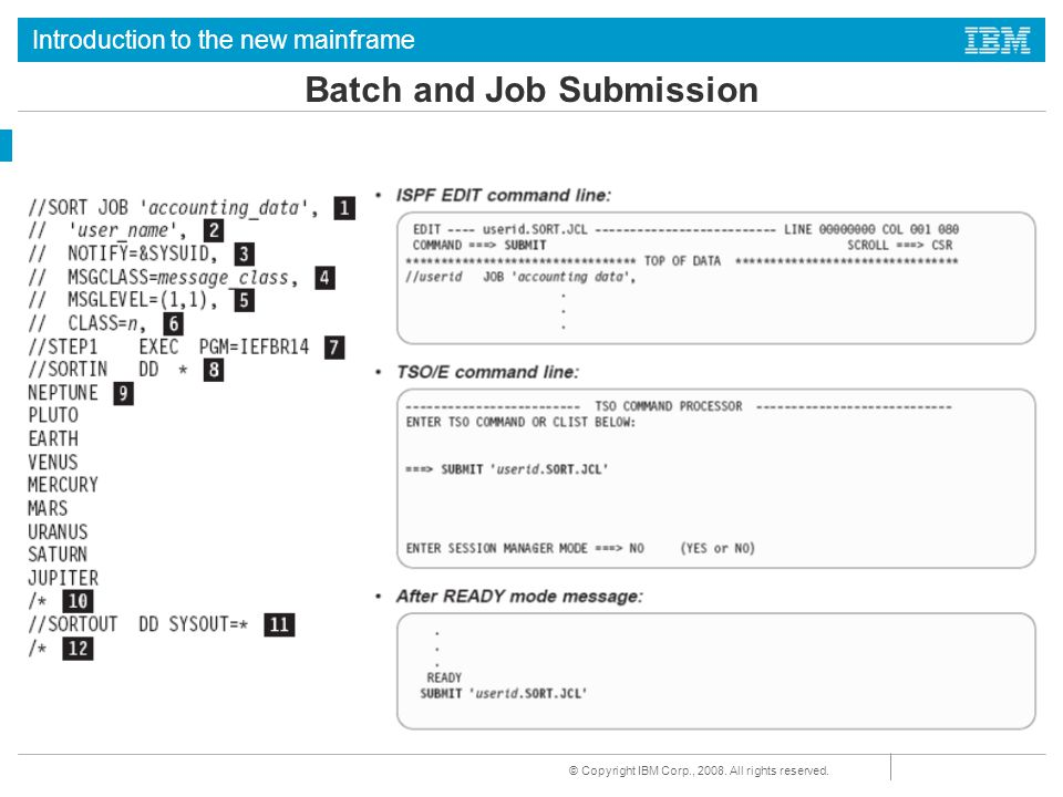 Batch and Job Submission