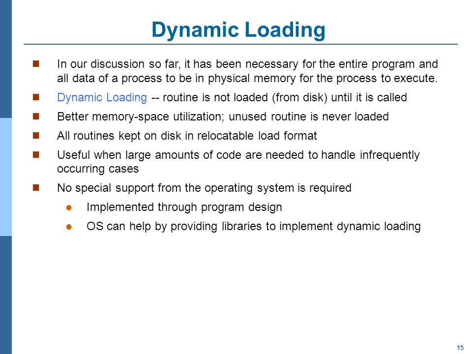 Dynamic Loading