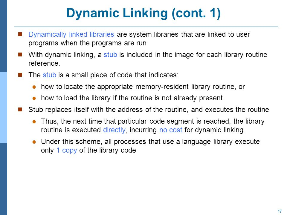 Dynamic Linking (cont. 1)