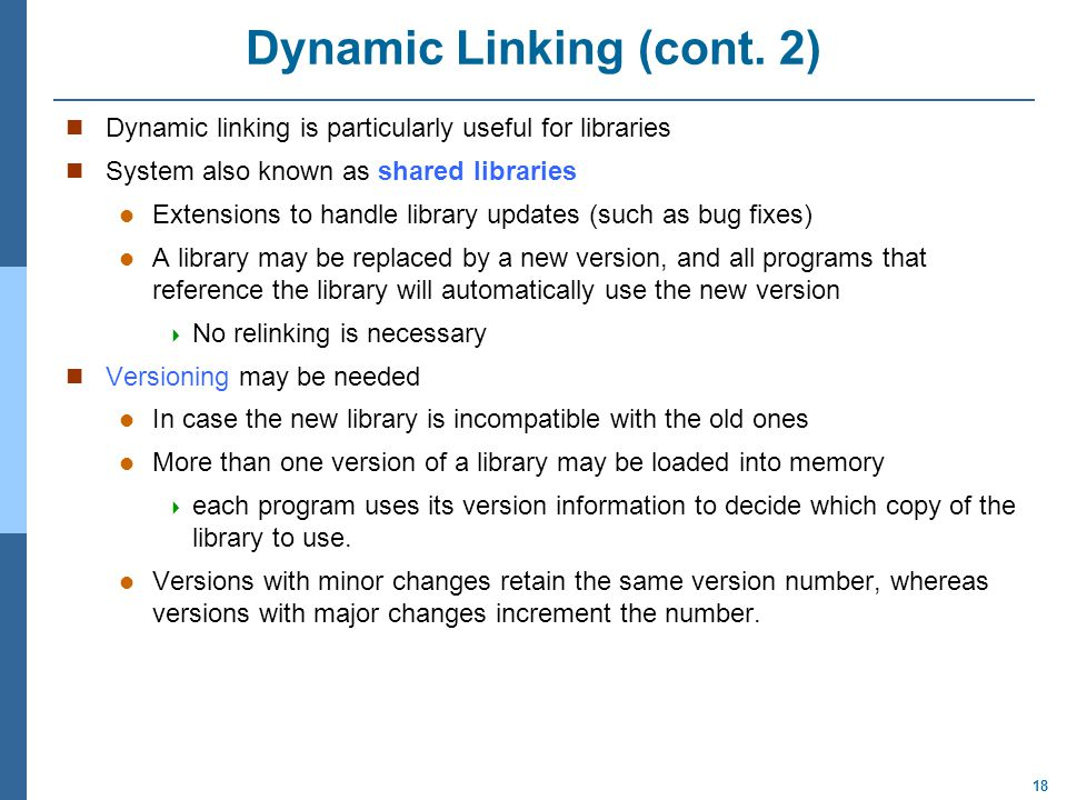 Dynamic Linking (cont. 2)