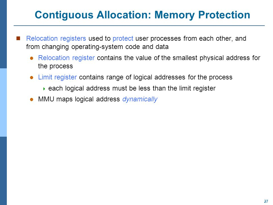 Contiguous Allocation: Memory Protection