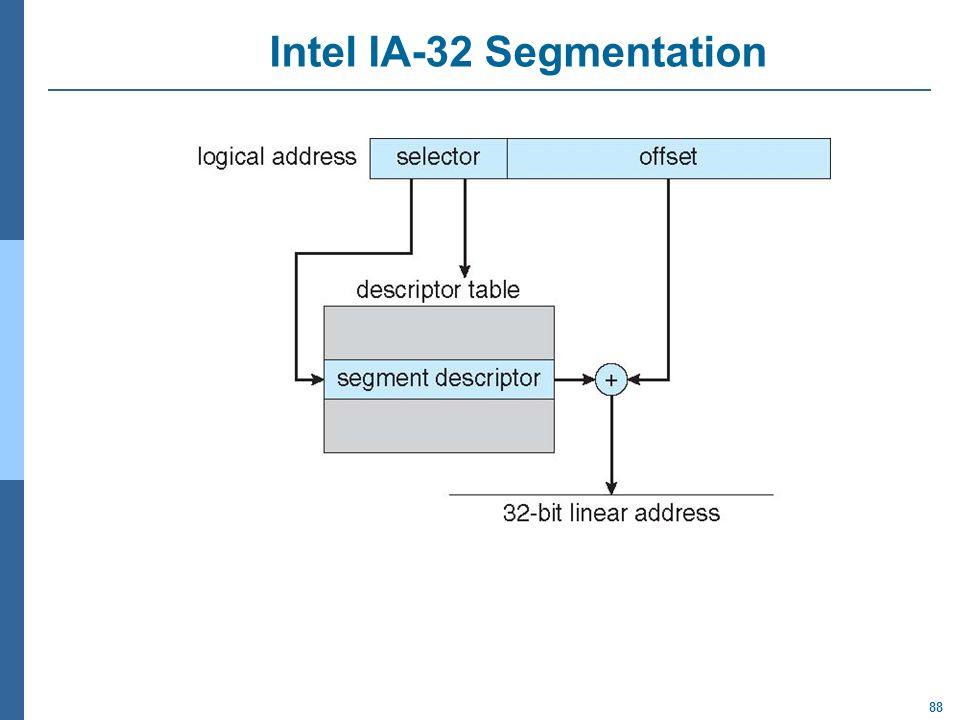 Intel IA-32 Segmentation