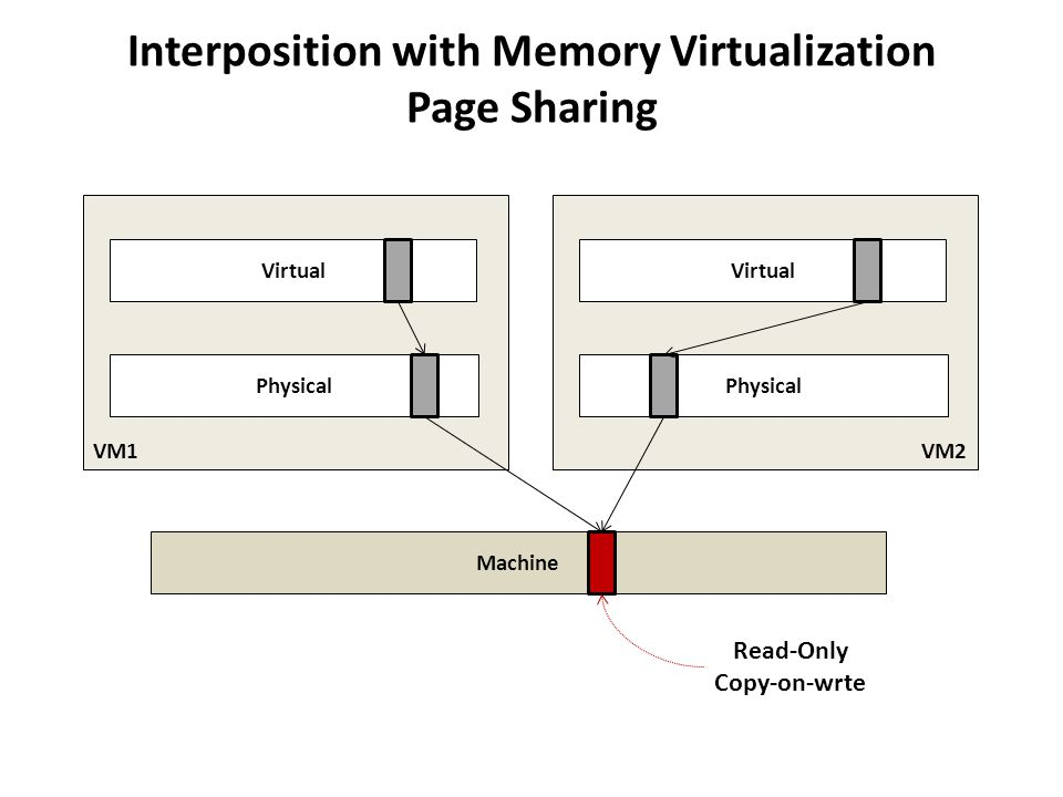 Interposition with Memory Virtualization Page Sharing