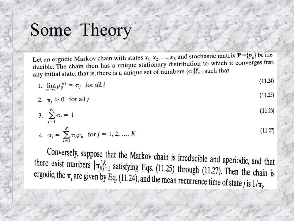 Some Theory The ergodicity theorem: 11.24-11.27