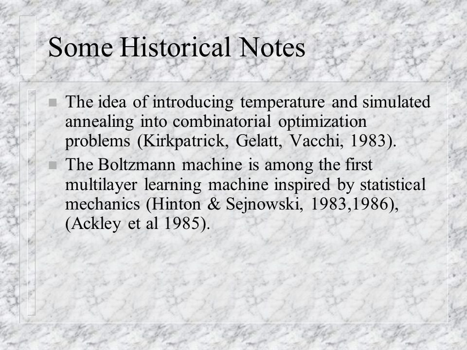 Some Historical Notes