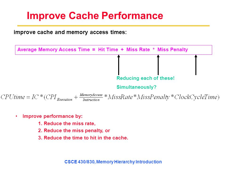 Improve Cache Performance