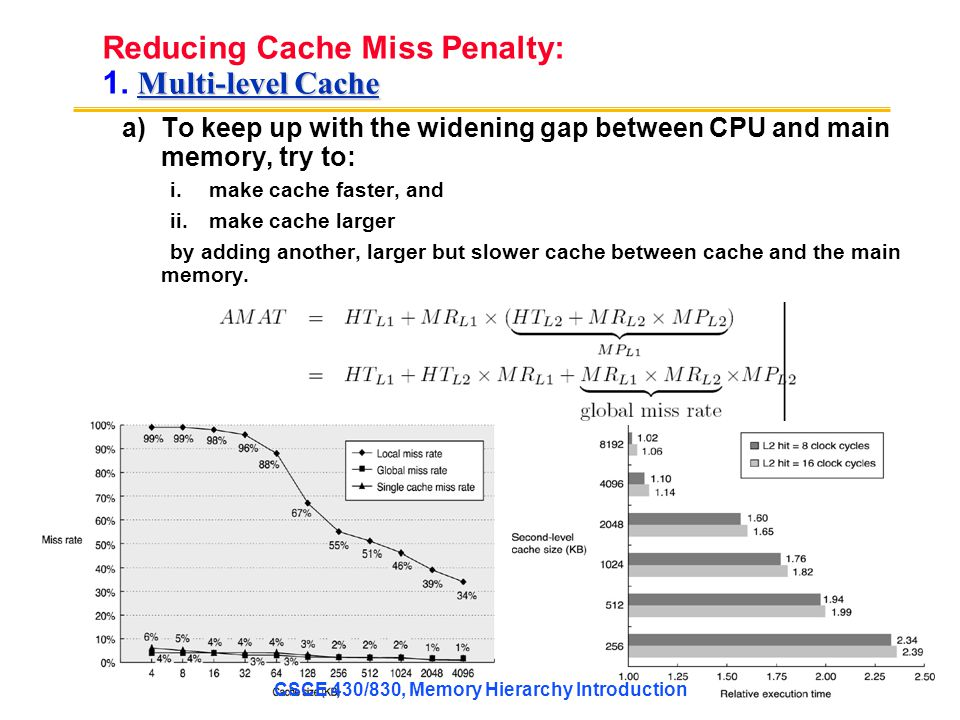 Reducing Cache Miss Penalty: 1. Multi-level Cache
