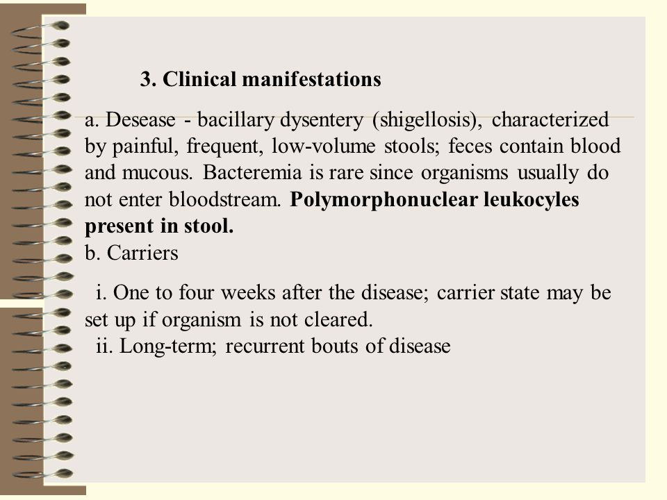 3. Clinical manifestations