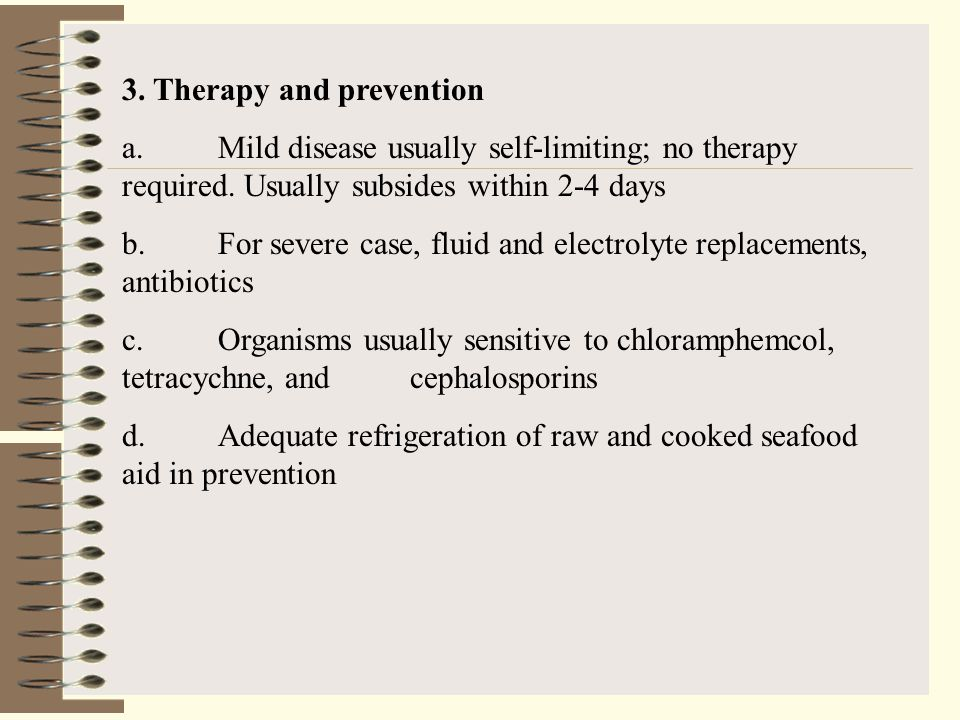 3. Therapy and prevention