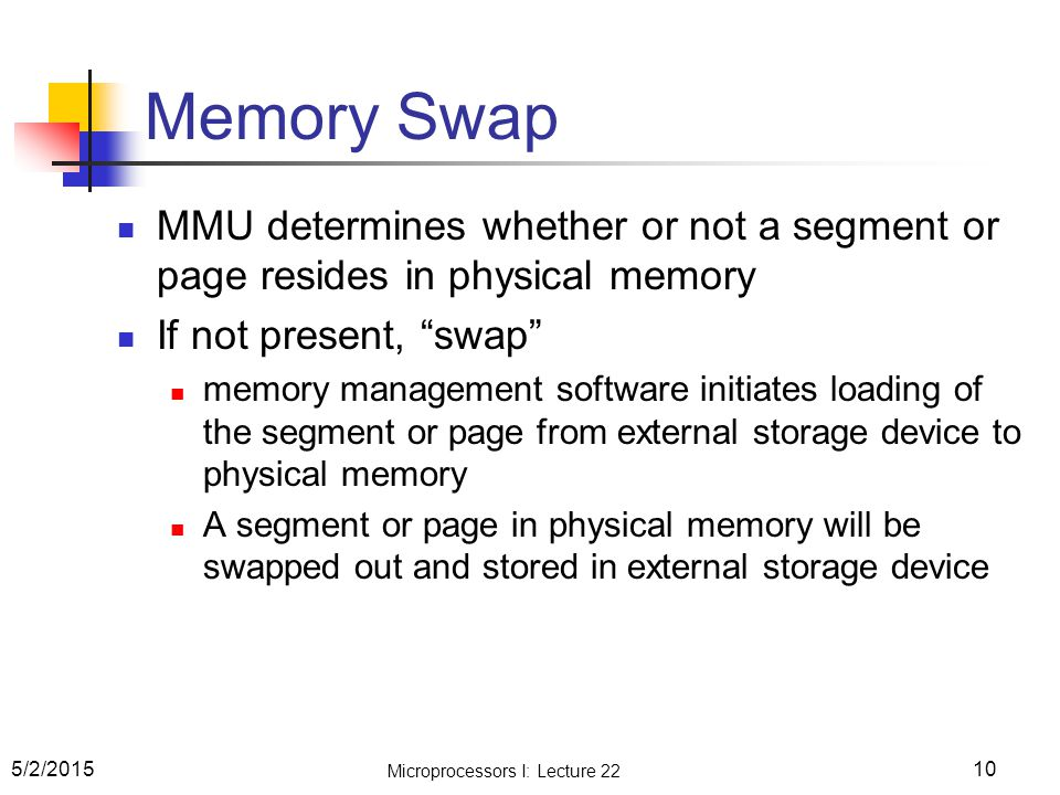 Microprocessors I: Lecture 22