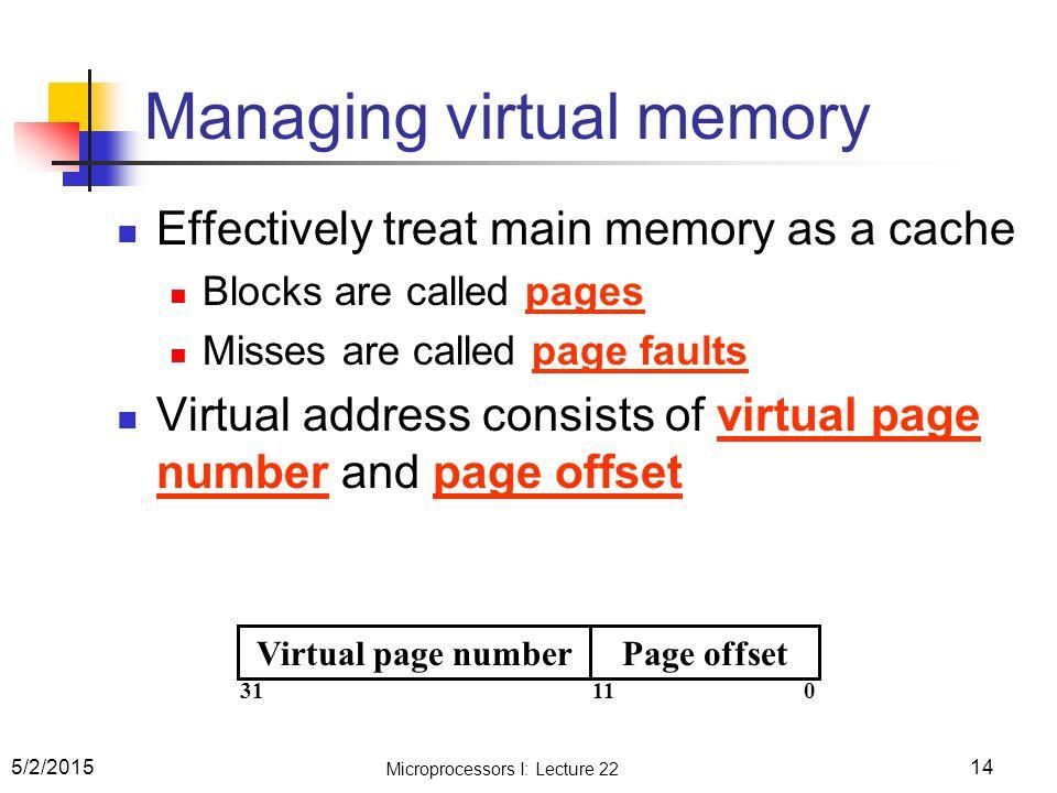 Managing virtual memory