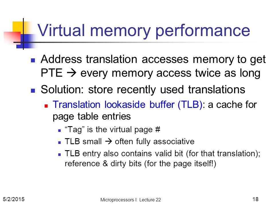 Virtual memory performance